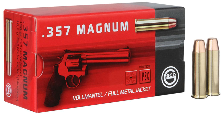 272040050 FMJ Geco  357 Magnum 158 GR Full Metal Jacket 50 Bx/ 20 Cs