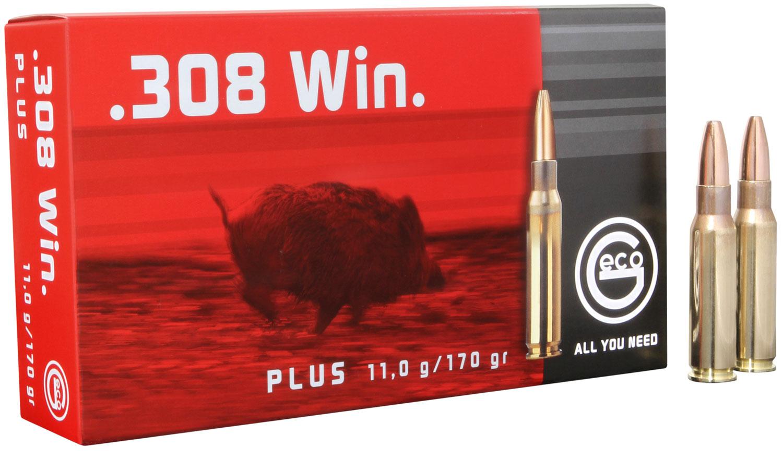 280540020 Plus Geco  308 Winchester 170 GR Plus 20 Bx/ 10 Cs
