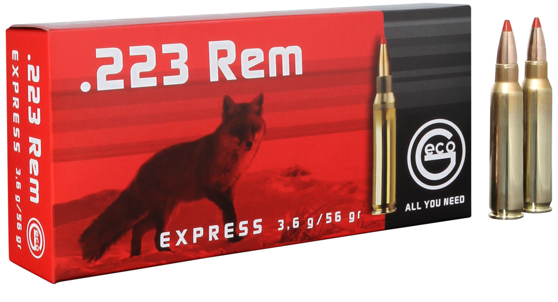 283340020 Express Geco  .223 Remington 56 GR Express Tip 20 Bx/10 Cs