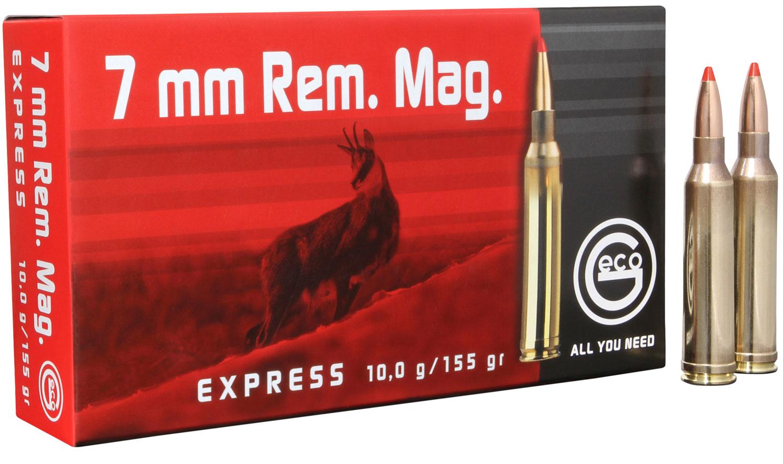 284340020 Express Geco  7mm Remington Magnum 155 GR Express Tip 20 Bx/10 Cs