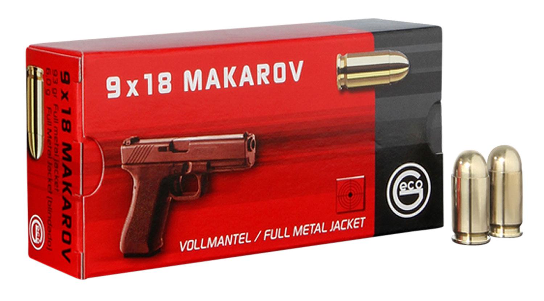294540050 Pistol Geco  9mm Makarov 95 GR Full Metal Jacket 50 Bx/ 20 Cs