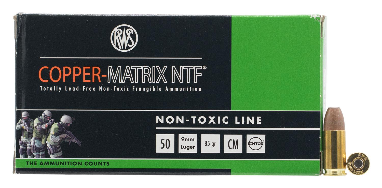RWS 290040050 Copper Matrix 9mm 85GR Non-Toxic/Frangible 50Bx/10Cs
