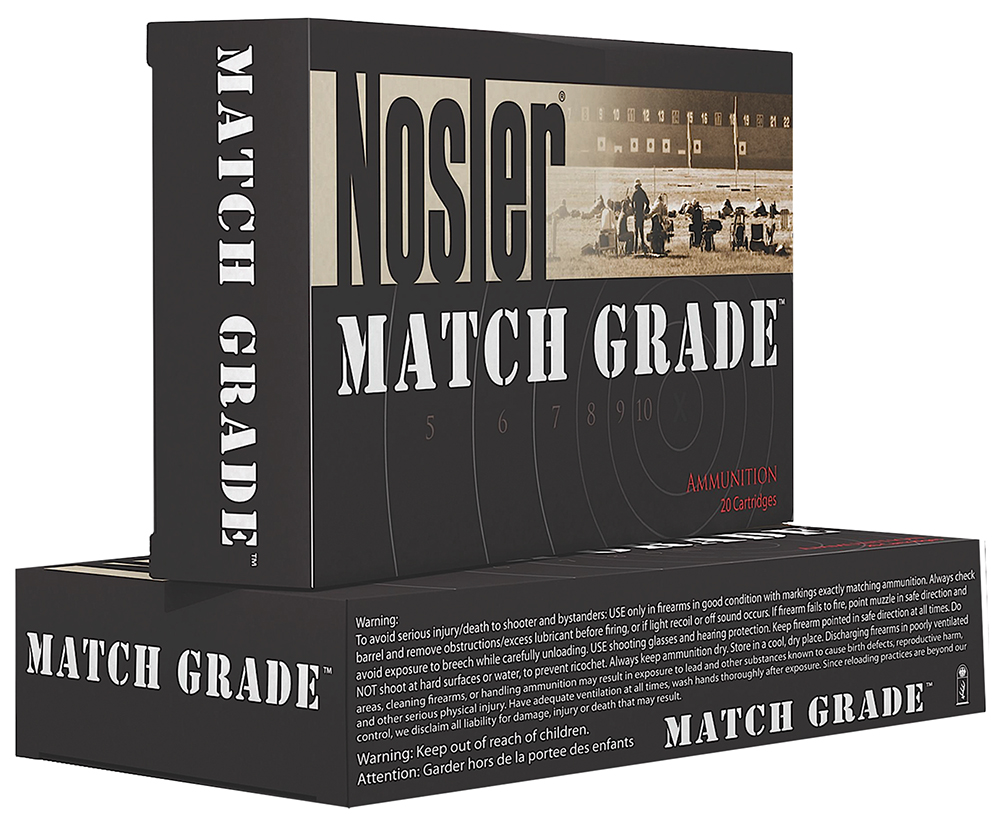 Nosler 51212 Match Grade 40 S&W Jacketed Hollow Point 180 GR 50Box/10Case