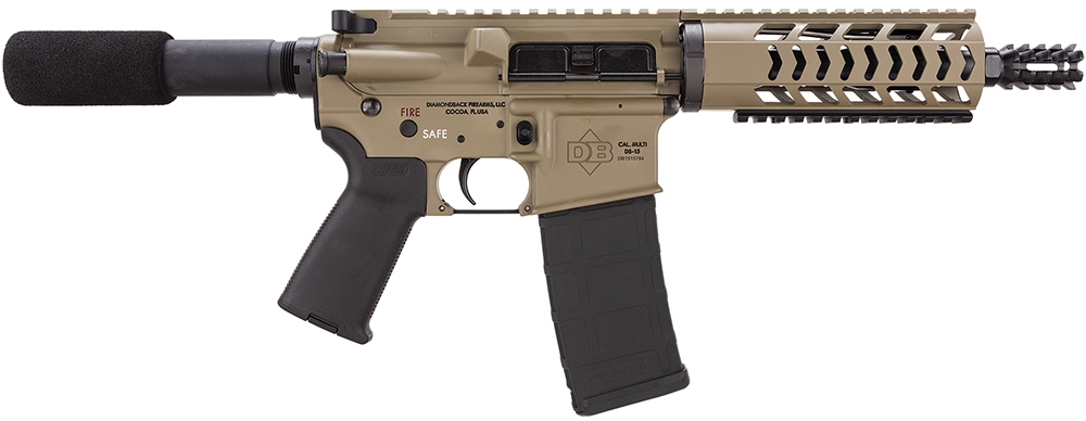 Diamondback DB15PFDE10 DB15 AR Pistol Semi-Automatic 223 Remington/5.56 NATO 10.5