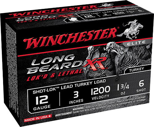 Winchester Ammo STLB1236 Long Beard XR Shot-Lok Turkey 12 Gauge 3