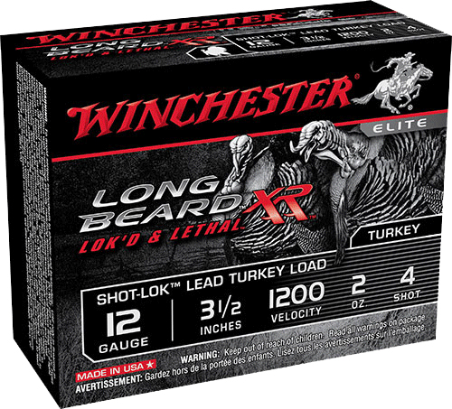 Winchester Ammo STLB12L4 Long Beard XR Shot-Lok Turkey 12 Gauge 3.5