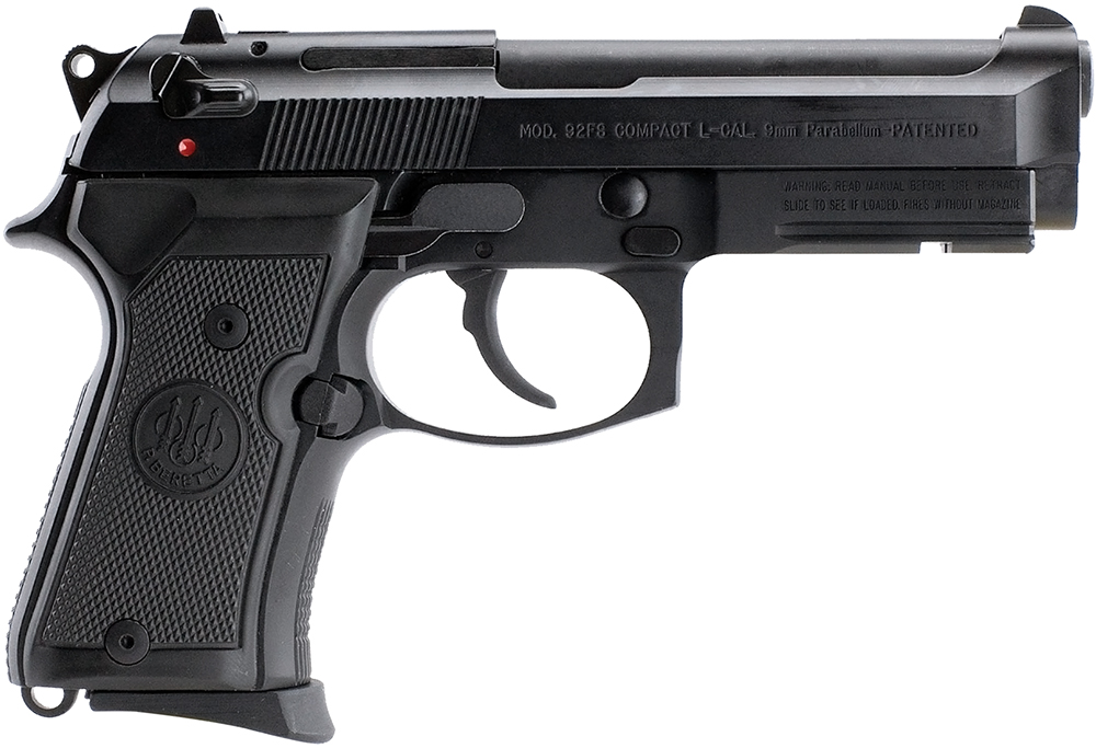 Beretta USA J90C9F10 92 Compact  with Rail 9mm Luger Single/Double 4.3