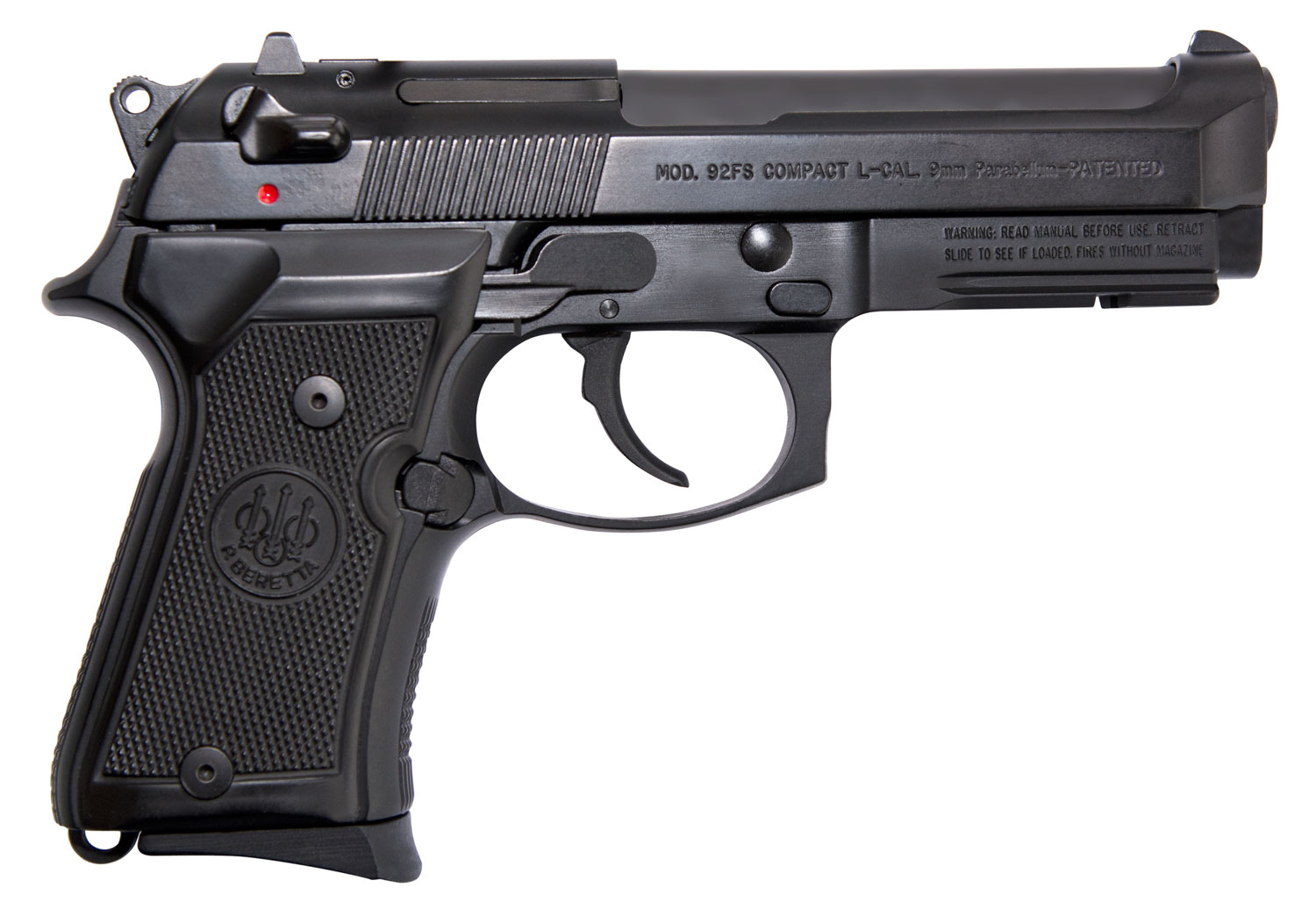 Beretta USA J90C9F11 92FS Compact  with Rail 9mm Luger Single/Double 4.3
