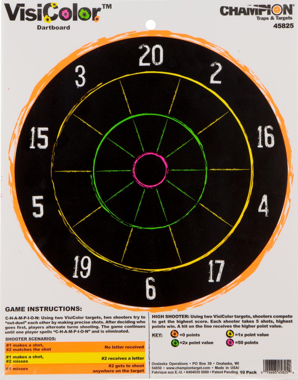 Champion Targets 45825 VisiColor Dartboard 1