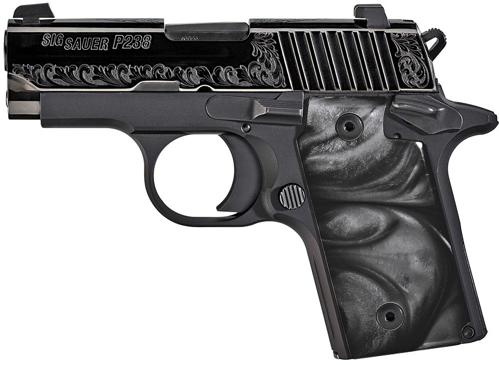 Sig Sauer 238380ESB P238 Micro-Compact Black Pearl Single 380 Automatic Colt Pistol (ACP) 2.7