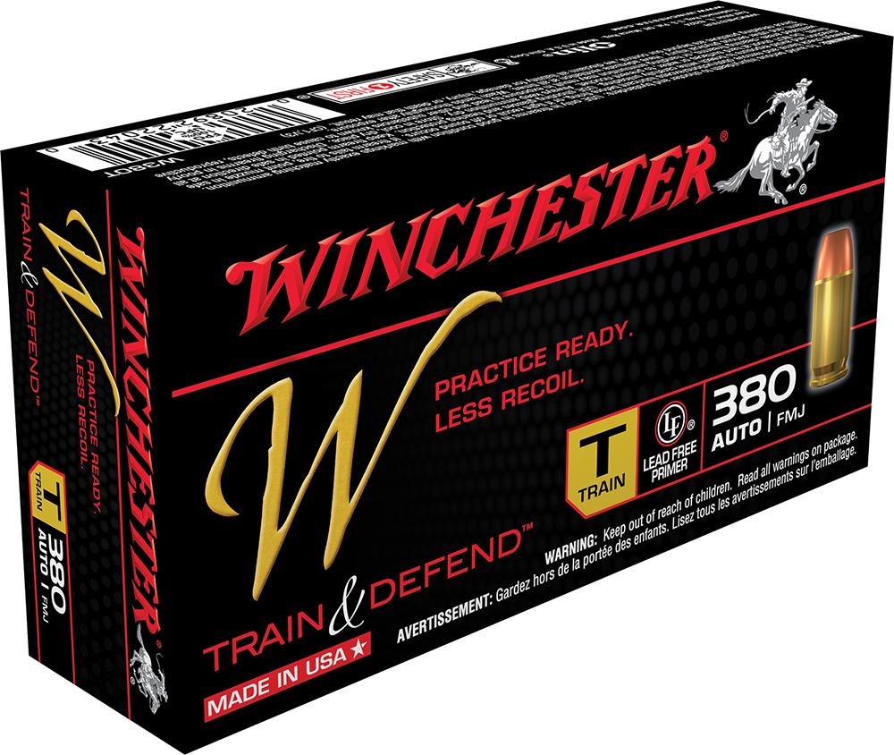 Winchester Ammo W380T W 380 Automatic Colt Pistol (ACP) 95 GR Full Metal Jacket 50 Bx/ 10 Cs