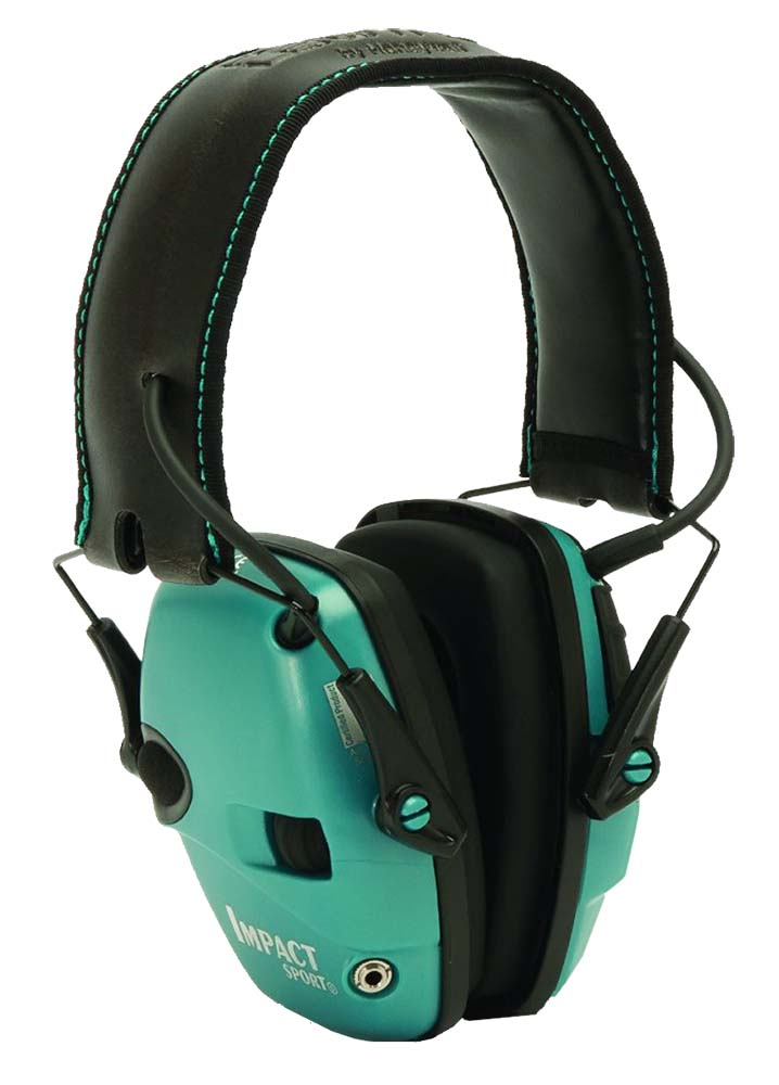 Howard Leight R02521 Impact Sport Electronic Muff 22 dB Over the Head Teal Ear Cups with Black Headband for Adults 1 Pair