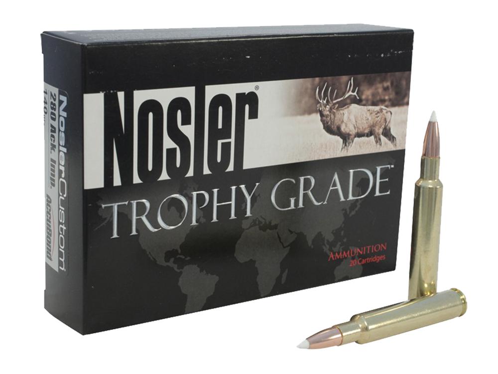 Nosler 60017 Trophy Grade 22-250 Remington Bonded Solid Base 64GR 20Box/10Case