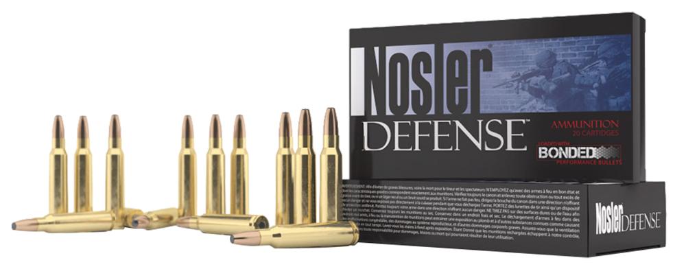 Nosler 39685 Defense Rifle 308 Win/7.62 NATO Bonded Solid Base 168GR 20Box/10Cas