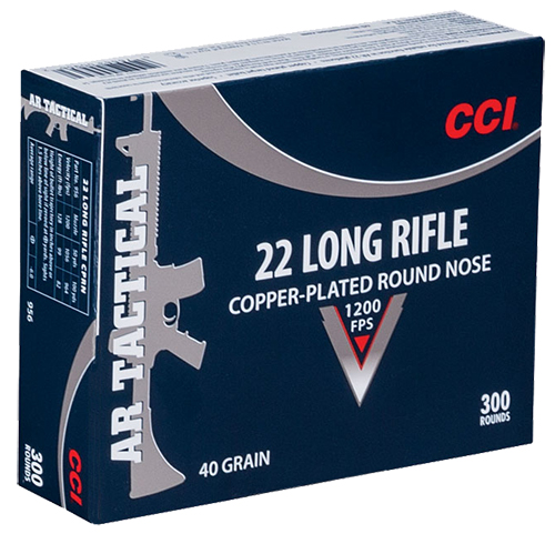 CCI 956 Target & Plinking AR Tactical  22 Long Rifle (LR) 40 GR Copper-Plated Round Nose 300 Bx/ 10 Cs