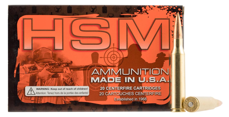 HSM 338LAP3N 338 Lapua Magnum 300GR Boat Tail Hollow Point 20 Box/10 Case