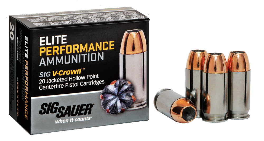 Sig Sauer E9MMA220 Elite Performance 9mm Luger 124 GR Jacketed Hollow Point 20 Bx/ 10 Cs