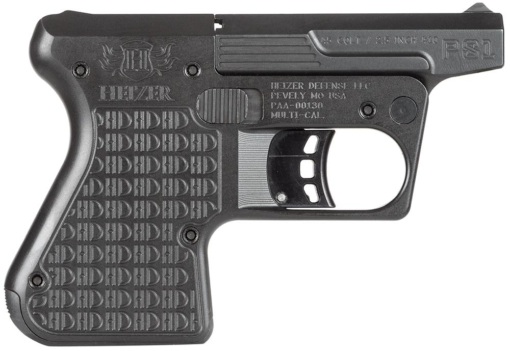 Heizer PS1BLK PS1 Pocket Shotgun Pistol Single 45 Colt (LC)/410 Gauge 3.5