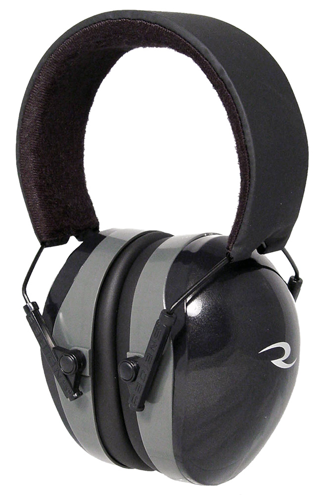 Radians TR0160CS TRPX Muff 29 dB Adjustable Black Ear Cups with Adjustable Black Headband & Gray Accents for Adults 1 Pair
