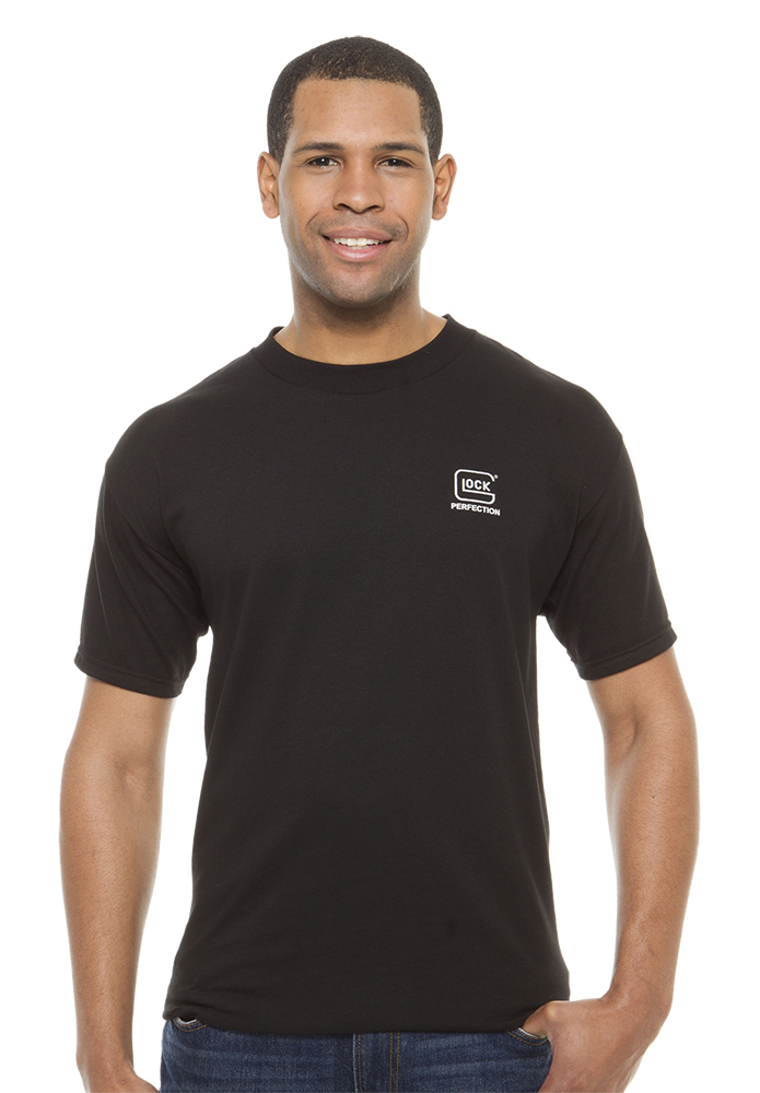Glock T Shirtt Short Sleeve Black Large Cotton