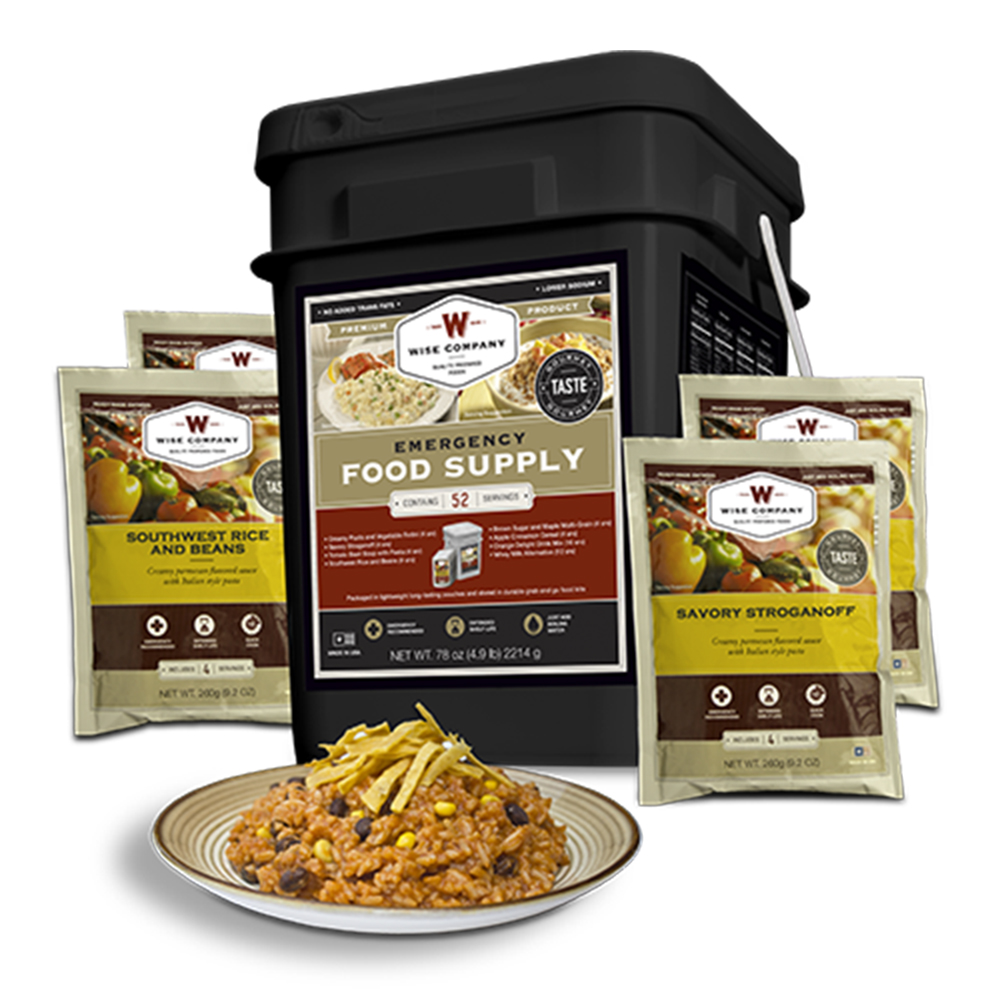 Wise Foods 01152 Emergency Supplies 52 Serving Prepper Pack