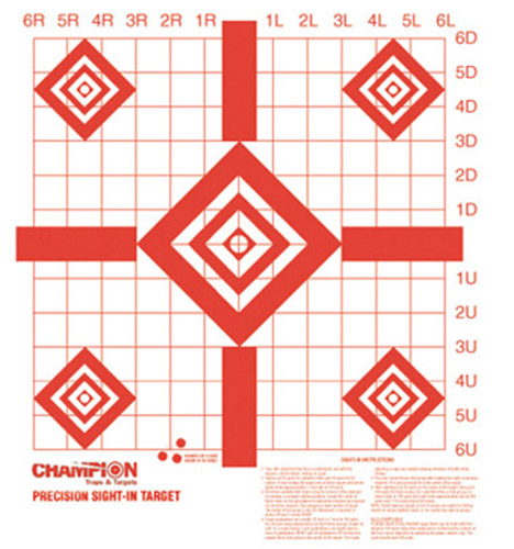Champion Targets 47388 Sight In Targets 10 Per Pack