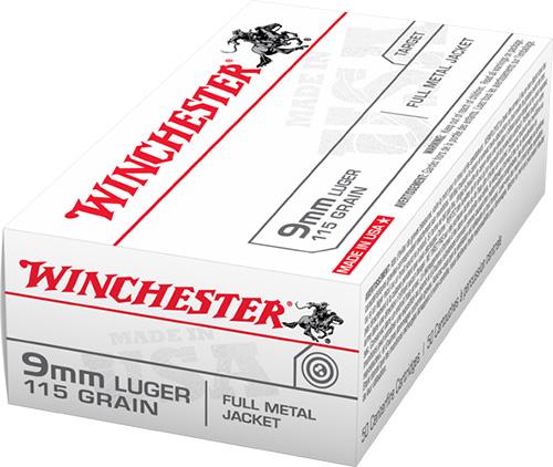 Winchester Ammo Q4172B Best Value 9mm Luger 115 GR Full Metal Jacket 50 Bx/ 10 Cs