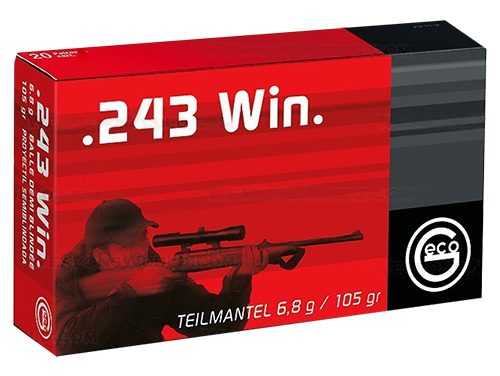 GECO 240140020 SP Geco  243 Winchester 105 GR Soft Point 20 Bx/ 10 Cs
