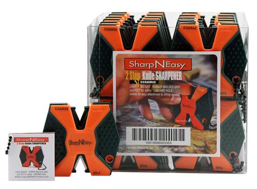 Accusharp 335CD SharpNEasy 2Step Sharpener Ceramic Stone Fine/Coarse 24Pk Orange