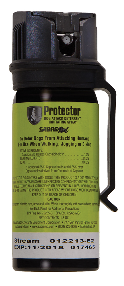 Sabre SRPMK3 Protector Dog Pepper Spray Contains 8 Bursts 1.8oz 15ft w/Belt Clip