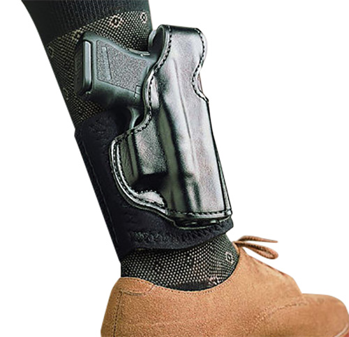 Desantis Gunhide 014PCX7Z0 Die Hard Ankle Rig S&W M&P Shield 9/40 Leather Blk