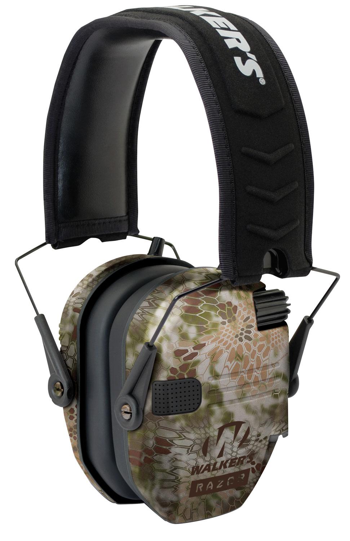 Walkers GWPRSEMKPT Razor Slim Shooter Folding Earmuff 23 dB Kryptek Highlander