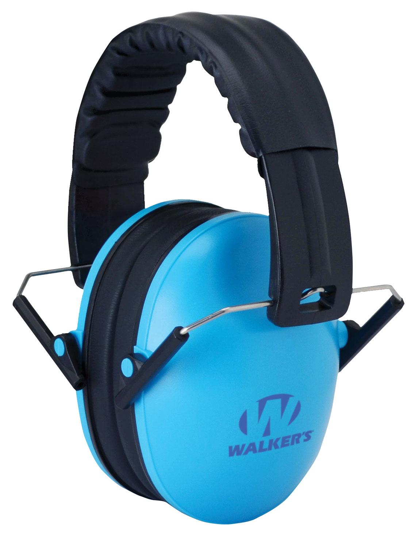 Walkers GWPFKDMBL Passive Baby & Kids Folding Earmuff 23 dB Blue