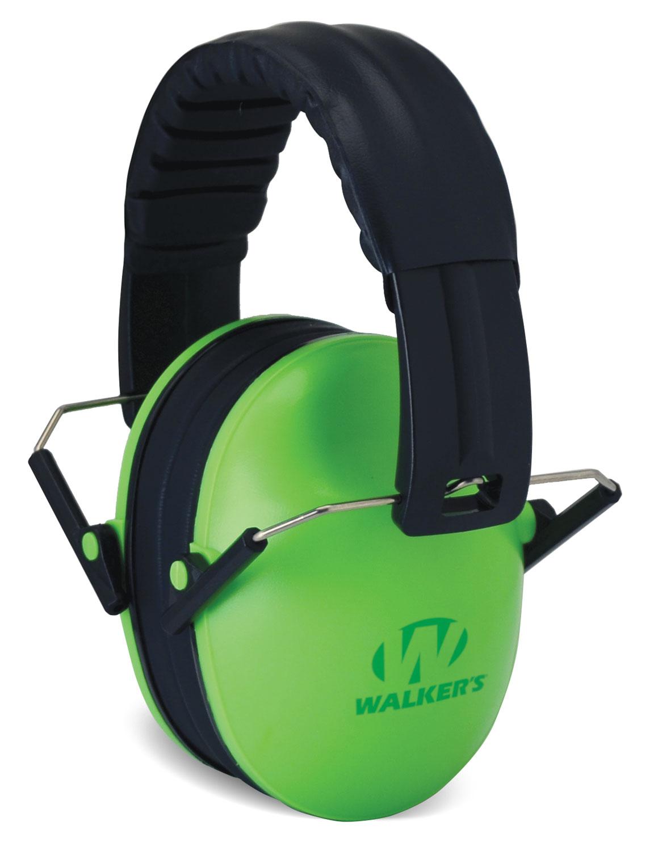 Walkers GWPFKDMLG Passive Baby & Kids Folding Earmuff 23 dB Green