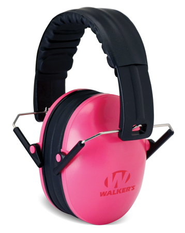 Walkers GWPFKDMPK Passive Baby & Kids Folding Earmuff 23 dB Pink