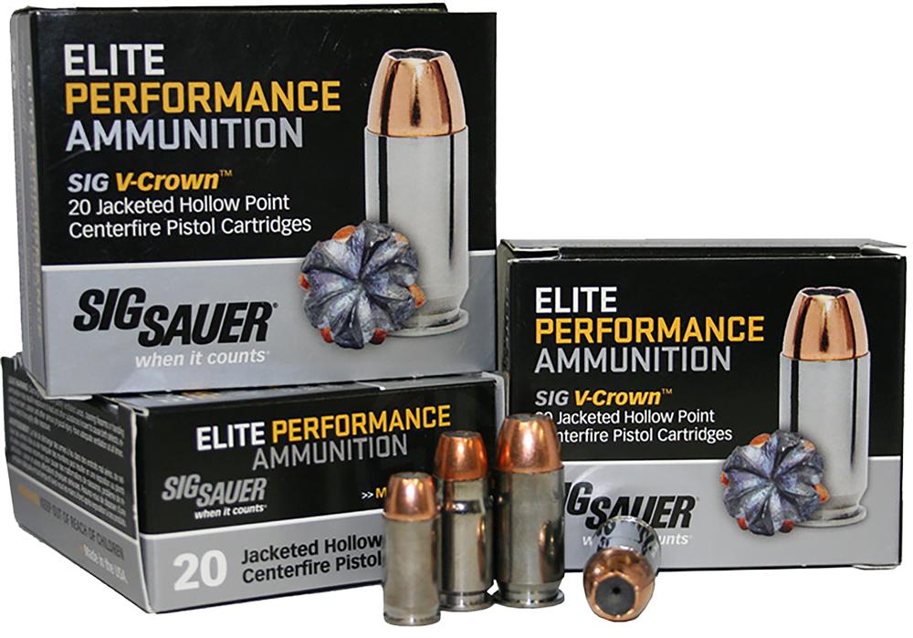 Sig Sauer E9MMA1-20 V-Crown 9mm Luger 115 GR JHP 20Box/10Case