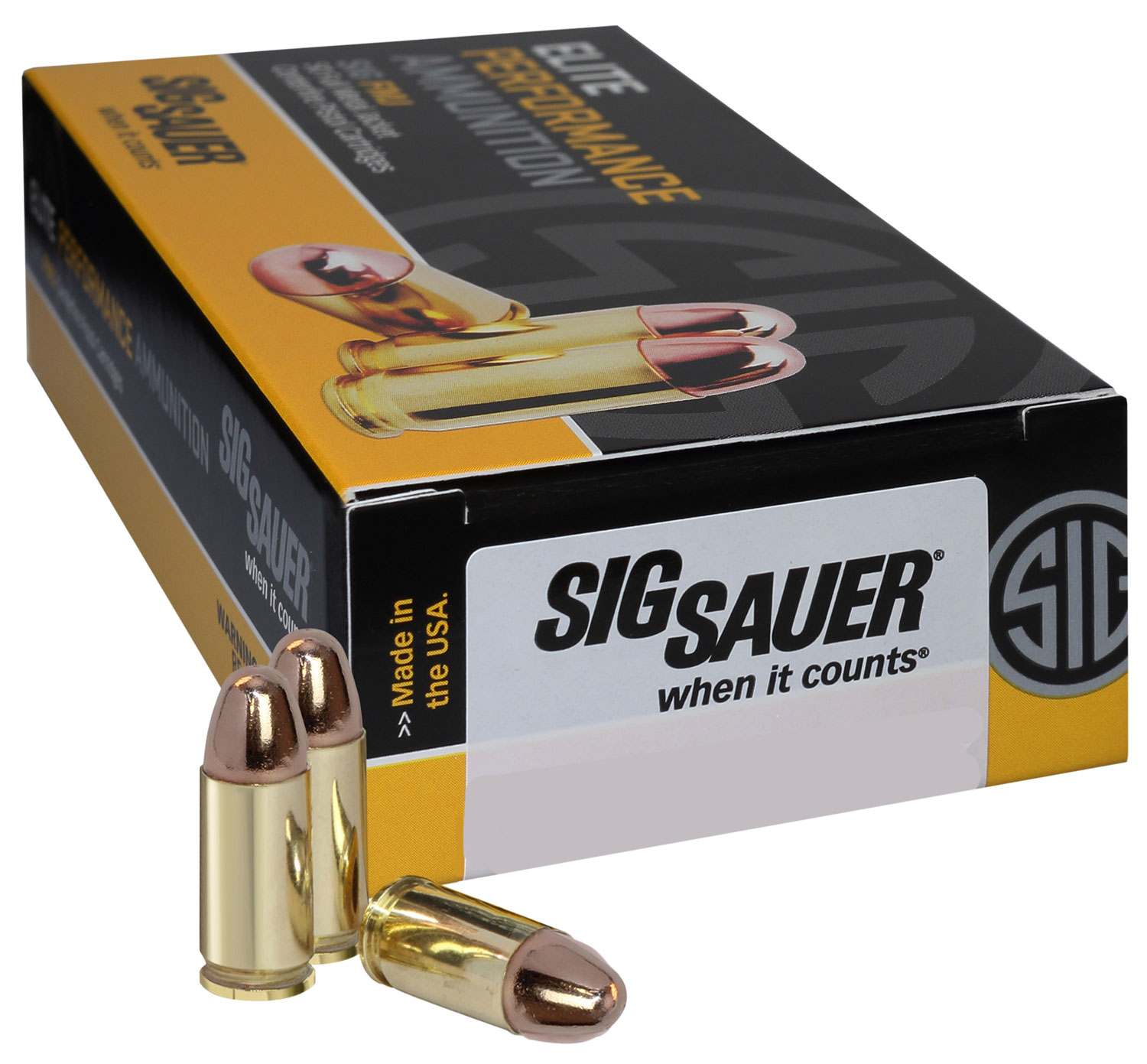 Sig Sauer E40SB2-50 Full Metal Jacket 40 S&W 180 GR FMJ 50Case/20Box