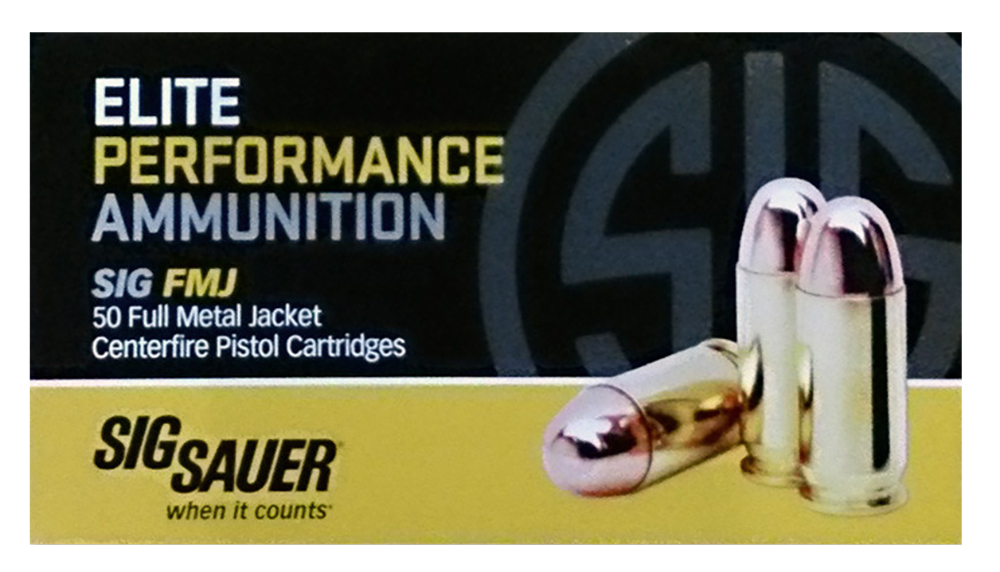 Sig Sauer E45BA3-50 Full Metal Jacket 45 ACP 230 GR FMJ 50 Box/20 Case