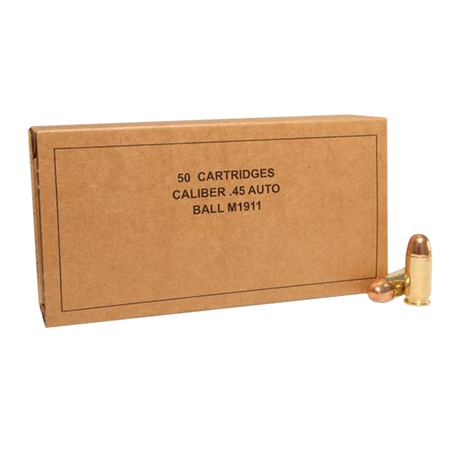 Winchester Ammo SG45W Military Service Grade 45 Automatic Colt Pistol (ACP) 230 GR Full Metal Jacket 50 Bx/ 10 Cs