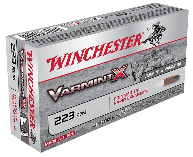Winchester Ammo X223PXL Varmint X 223 Remington/5.56 NATO 55 GR 40 Bx/ 5 Cs