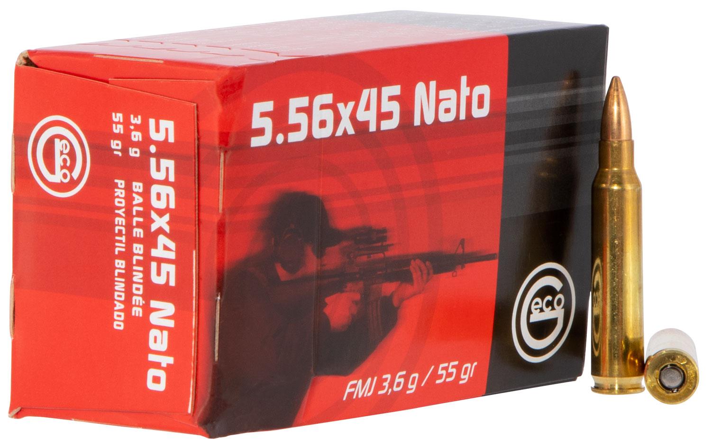 GECO 278140050  223 Remington/5.56 NATO 55 GR Full Metal Jacket 50 Bx/ 20 Cs