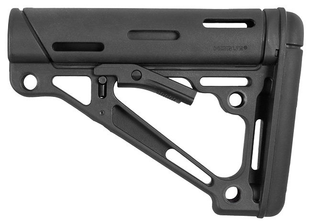 Hogue 15050 OverMolded Collapsible Buttstock AR-15 Commercial Rubber Black