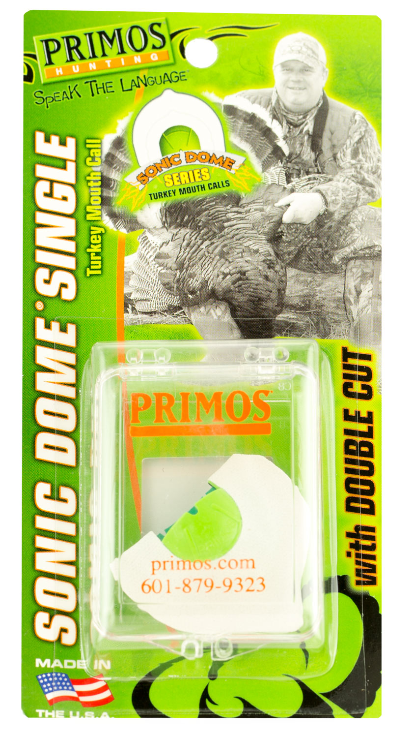 Primos PS1176 Sonic Dome Single with Double Cut Turkey Mouth Call