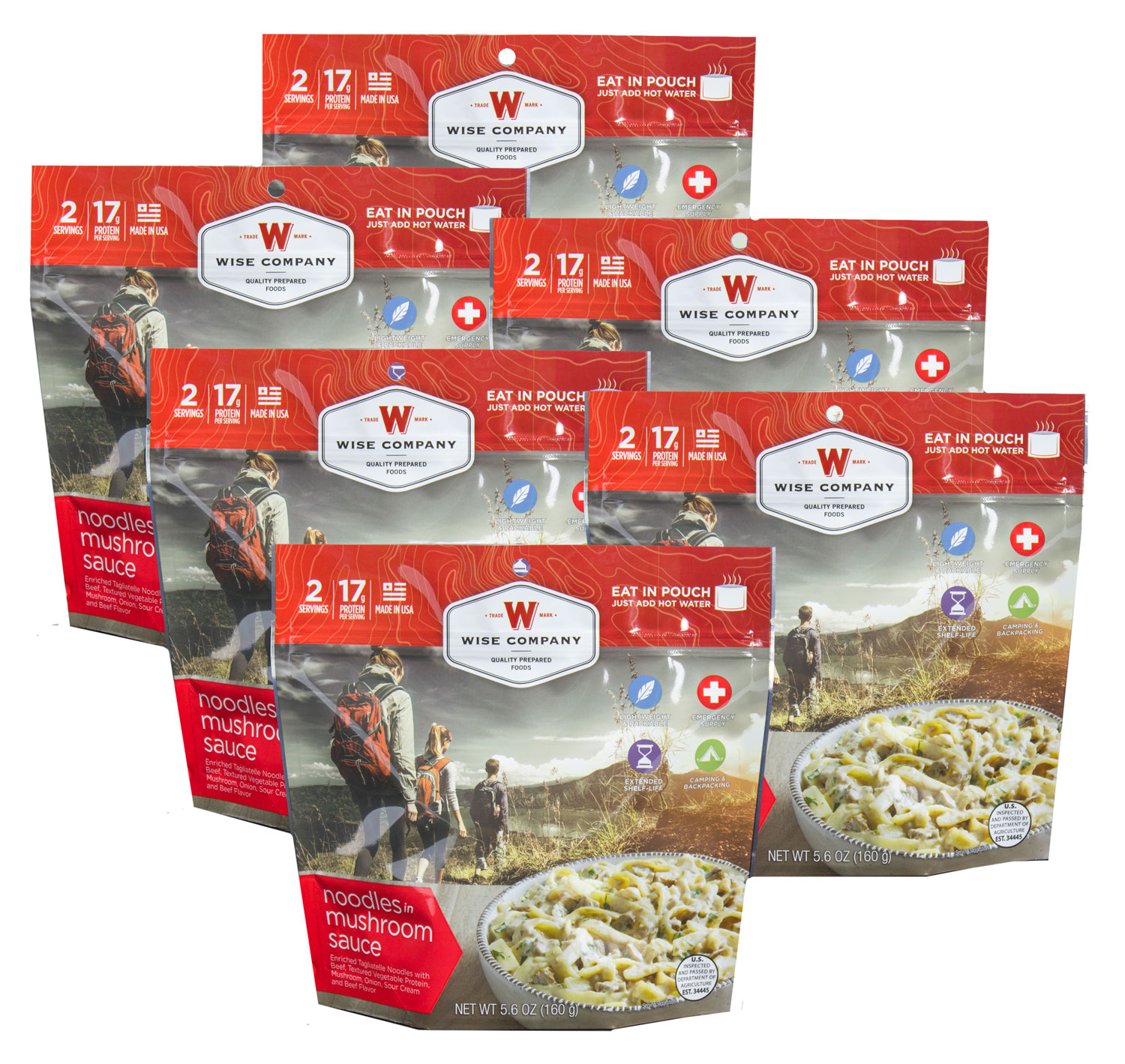 Wise Foods 05904 Outdoor Food Kit Noodles and Beef Dehydrated/Freeze Dried