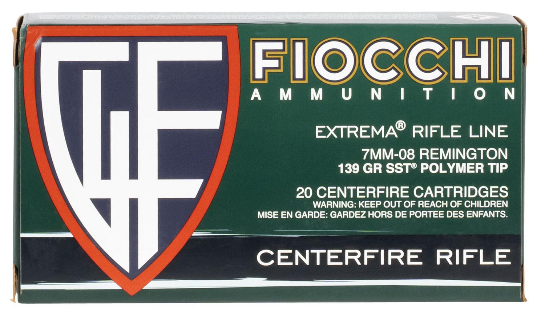 Fiocchi 7MM08HSA Shooting Dynamics 7mm-08 Remington 139 GR SST 20 Bx/ 10 Cs
