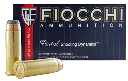 Fiocchi 44A500 Shooting Dynamics 44 Remington Magnum 240 GR Jacketed Soft Point 50 Bx/ 10 Cs