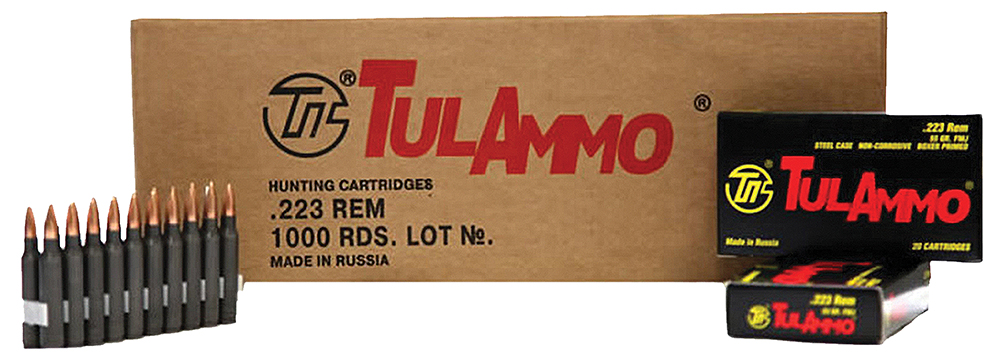 Tulammo TA223620 Centerfire Rifle 223 Remington/5.56 NATO 62 GR Full Metal Jacket 20 Bx/ 50 Cs