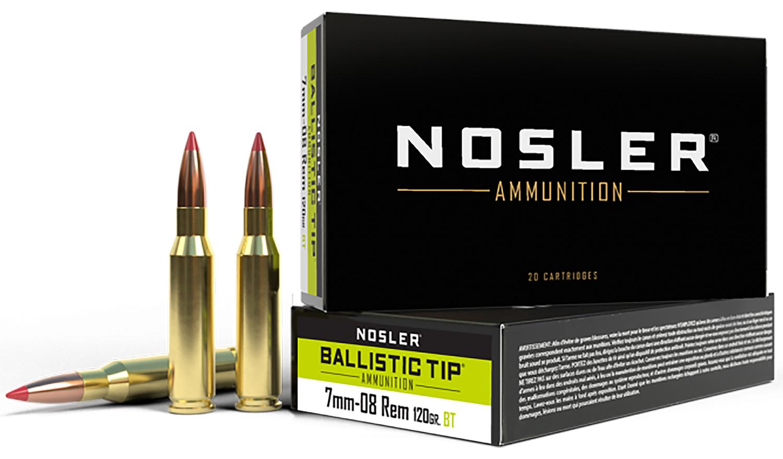 NOSLER 7MM-08 120GR BT HUNT 20/200