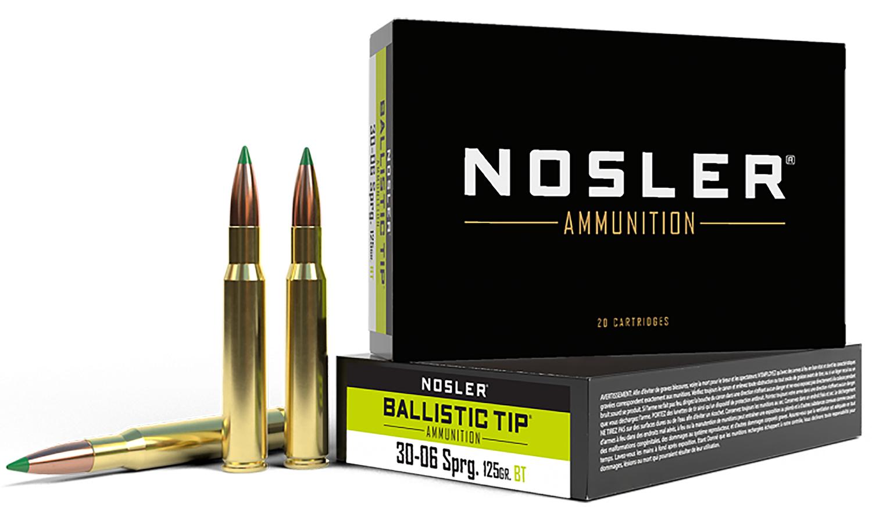 Nosler 40068 Trophy 30-06 Springfield 125 GR Ballistic Tip 20 Bx/ 10 Cs