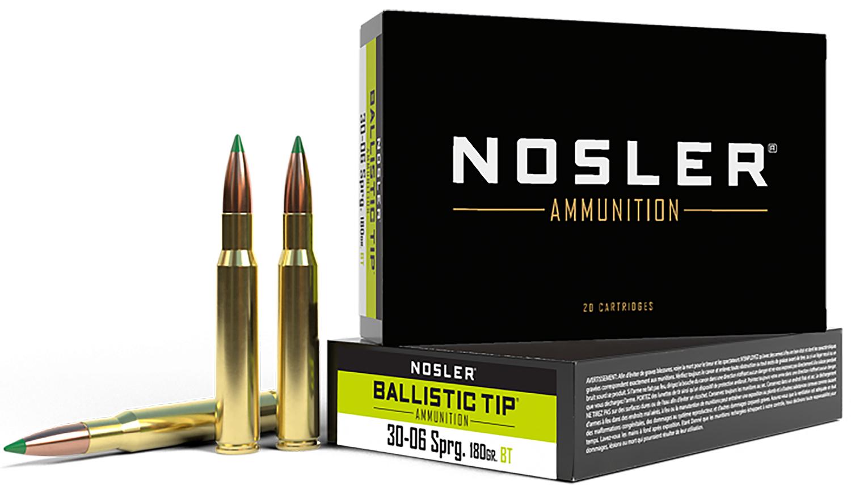 Nosler 40072 Trophy 30-06 Springfield 180 GR Ballistic Tip 20 Bx/ 10 Cs